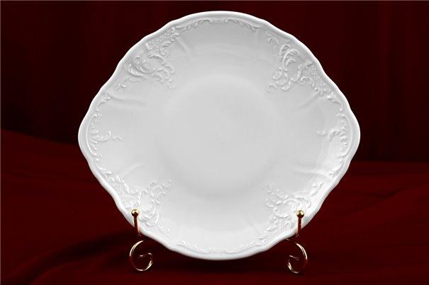 Тарелка для Торта 27 см 1 штука Бернадотт Белая Посуда Чехия