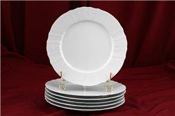 Набор Тарелок 27 см 6 штук Бернадотт Белая Посуда Чехия