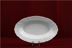 Блюдо Овальное 24 см 1 штука Бернадотт Белая Посуда Чехия