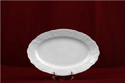 Блюдо Овальное 26 см 1 штука Бернадотт Белая Посуда Чехия
