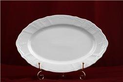 Блюдо Овальное 34 см 1 штука Бернадотт Белая Посуда Чехия