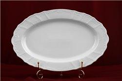 Блюдо Овальное 36 см 1 штука Бернадотт Белая Посуда Чехия