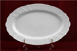 Блюдо Овальное 39 см 1 штука Бернадотт Белая Посуда Чехия