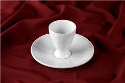 Подставка под Яицо 5 см 2 предмета Бернадотт Белая Посуда Чехия
