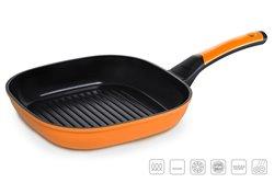 Сковорода Гриль 26x26 см Оранжевая Oursson Palette Корея