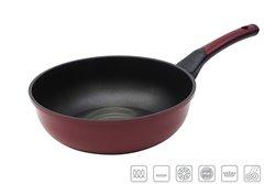 Сковорода Вок 28 см 1 штука Бордовая Oursson Palette Корея