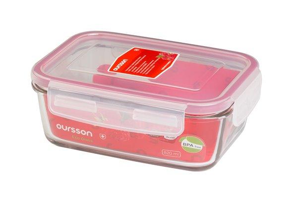 Контейнер 0,8 литра 2 предмета Oursson Eco Glass Корея