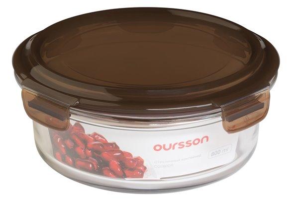 Контейнер 0,8 литра 2 предмета Oursson Glass Pro Корея