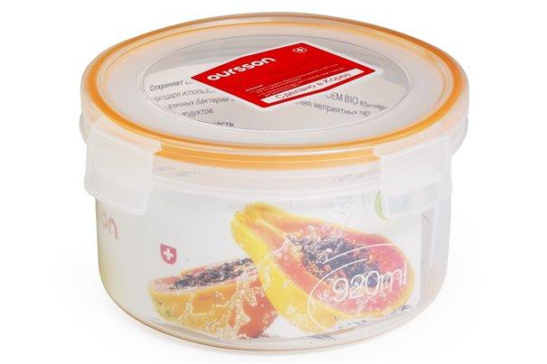 Контейнер 0,9 литра 2 предмета Оранжевый Oursson Ecо Keep Корея