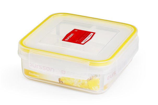 Контейнер 0,7 литра 2 предмета Желтый Oursson Ecо Keep Корея