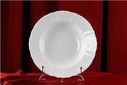Глубокая Тарелка 23 см 1 штука Бернадотт Белая Посуда Чехия