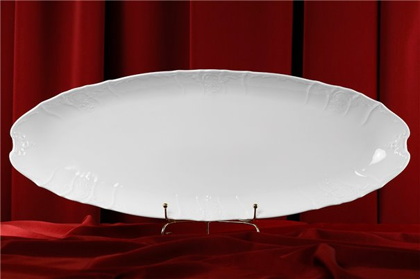 Блюдо для Рыбы 65 см 1 штука Бернадотт Белая Посуда Чехия