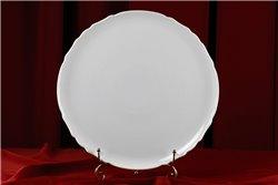 Тарелка для Пиццы 32 см 1 штука Бернадотт Белая Посуда Чехия