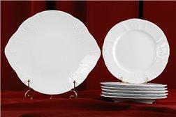 Набор для Торта 7 предметов Бернадотт Белая Посуда Чехия