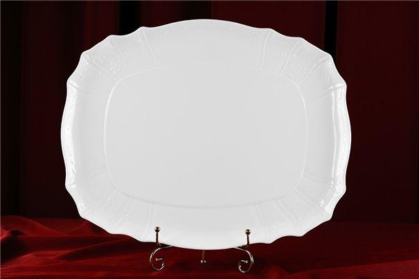 Поднос 40 см 1 штука Бернадотт Белая Посуда Чехия
