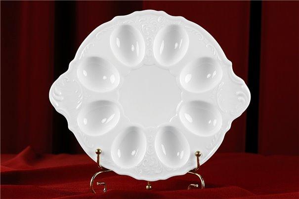 Поднос для Яиц 21 см 1 штука Бернадотт Белая Посуда Чехия