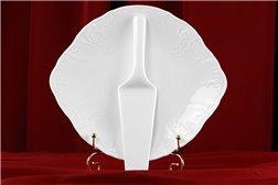 Тарелка для Торта 27 см с Лопаткой 2 предмета Бернадотт Белая Посуда Чехия