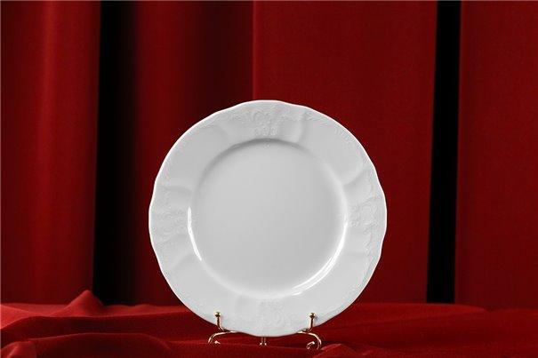 Набор Десертных Тарелок 19 см 6 штук Бернадотт Белая Посуда Чехия