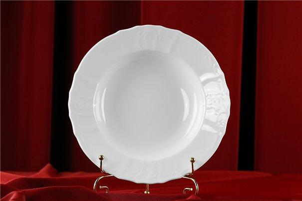 Набор Глубоких Тарелок 23 см 6 штук Бернадотт Белая Посуда Чехия