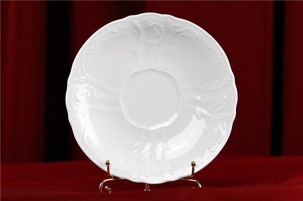 Набор Блюдец Чайных 15 см 6 штук Бернадотт Белая Посуда Чехия