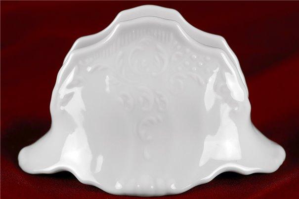 Салфетница 12 см 1 штука Бернадотт Белая Посуда Чехия
