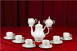 Кофейный Сервиз на 6 персон 17 предметов Бернадотт Белая Посуда Чехия