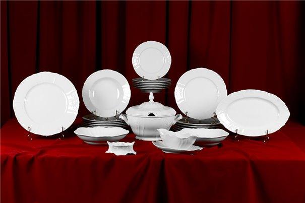 Столовый Сервиз на 6 персон 26 предметов Бернадотт Белая Посуда Чехия