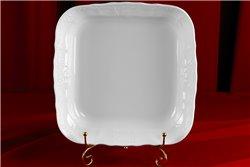 Салатник Квадратный 25 см 1 штука Бернадотт Белая Посуда Чехия