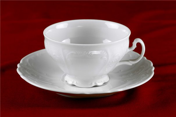 Набор Чайных Чашек 220 мл на 6 персон 12 предметов Бернадотт Белая Посуда Чехия