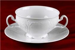 Набор Чашек для Супа 360 мл 12 предметов Бернадотт Белая Посуда Чехия