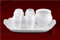Набор для Специй 6 предметов Бернадотт Белая Посуда Чехия