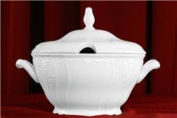 Супница 2,5 литра 2 предмета Бернадотт Белая Посуда Чехия