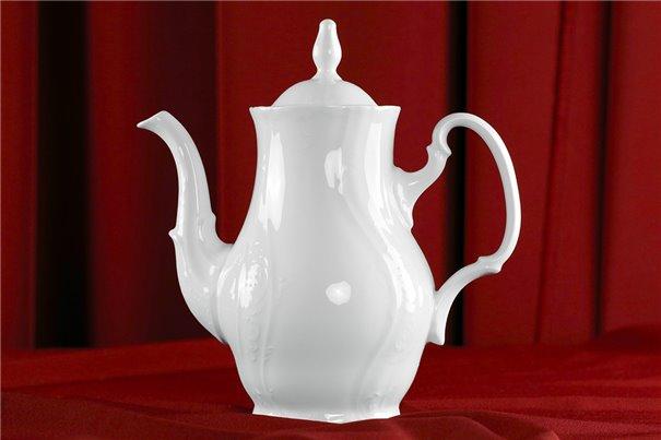 Кофейник 1,2 литра 2 предмета Бернадотт Белая Посуда Чехия