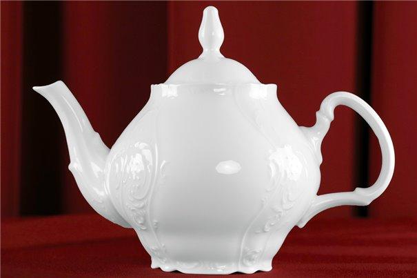 Чайник 1,2 литра 2 предмета Бернадотт Белая Посуда Чехия