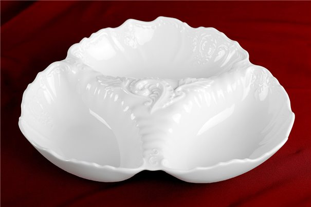 Менажница 30 см 1 штука Бернадотт Белая Посуда Чехия
