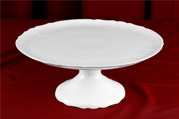 Тарелка для Торта на Ножке 32 см 1 штука Бернадотт Белая Посуда Чехия