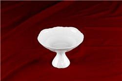 Ваза для Фруктов 16 см 1 штука Бернадотт Белая Посуда Чехия