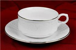 Чайная пара 300 мл 2 предмета Бернадотт Платина Чехия