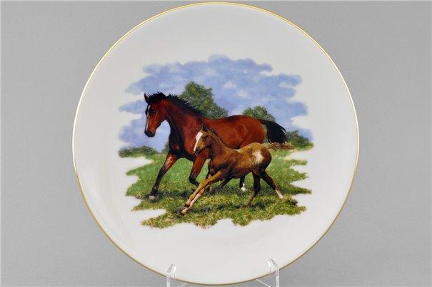 Тарелка Настенная 24 см Две Лошади 1 штука Чехия