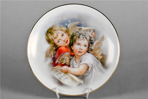 Тарелка Настенная 21 см Два Ангела 1 штука Чехия
