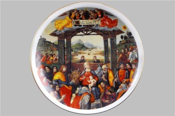 Тарелка Настенная 21 см Поклонение волхвов 1 штука Чехия