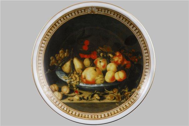 Тарелка Настенная 21 см Блюдо с Фруктами 1 штука Чехия