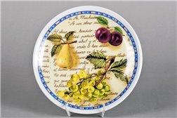 Тарелка Настенная 21 см Крупные Фрукты 1 штука Чехия