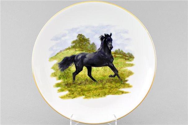 Тарелка Настенная 24 см Черный Конь 1 штука Чехия